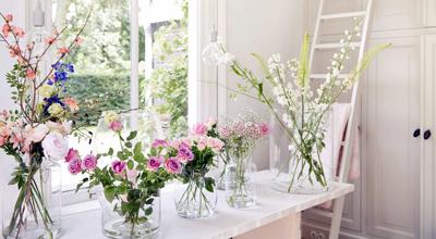 Glazen vazen tuincentrum thiels heist-op-den-berg leuven mechelen