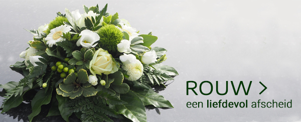 Rouwboeket tuincentrum Thiels