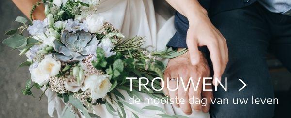Trouw bruidsboeket tuincentrum Thiels